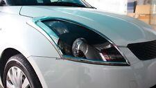 Fit For Suzuki New Swift 2012-2015 Chrome Chrome Head Light Lamp Cover Trim 2PCS