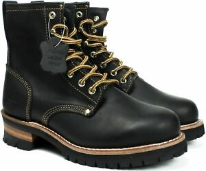 Fuda Men 692 Black Work Safety Leather