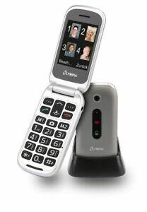 OLYMPIA-Seniorenhandy-Mira-Silber-Senioren-Mobiltelefon-grosse-Tasten-Farbdisplay