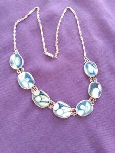 Handmade-Porcelain-Shard-925-Sterling-Silver-16-034-Necklace