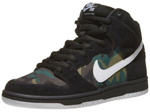 sports shoes 6cfda 8b42f Details about Nike SB Dunk High black white iguana BQ6826-001 Camo Pack