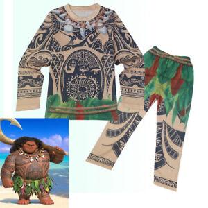 6001af6d75193 ... Costume-Deguisement-T-Shirt-Pantalon-Moana-Vaiana-Maui-. Image non  disponible Photos non disponibles pour ...