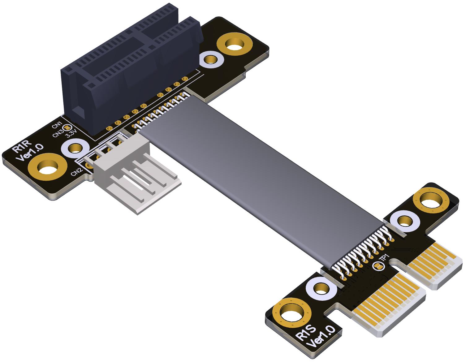 Grafikkarten-Verlängerungskabel PCIE x1 bis x16 3.0 Volle Geschwindigkeit