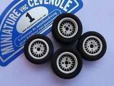 Lot de  4 Roues 1/  43  : SPEEDLINE pour RENAULT 5 TURBO ASPHALTE , etc ...