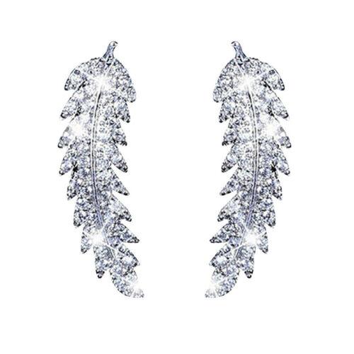 Women Earrings Zircon Studs Fashion Gift Climber Crawler Gold Silver Ear Cuff