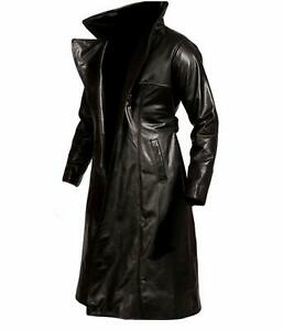 MENS-THE-CROW-ERIC-DRAVEN-STEAMPUNK-GOTHIC-BLACK-LEATHER-TRENCH-COAT-JACKET