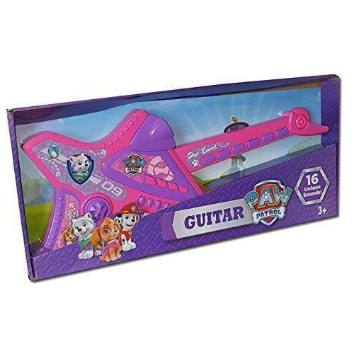 Paw patrullera Electronic musikal Skye och Everest flickor Guitar with 16 Sounds