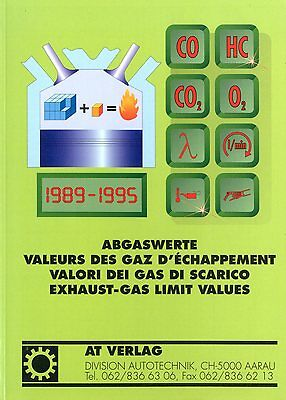 1989-1995 Abgaswerte Exhaust-gas Limit Values Book Buch Book Perfect In Workmanship