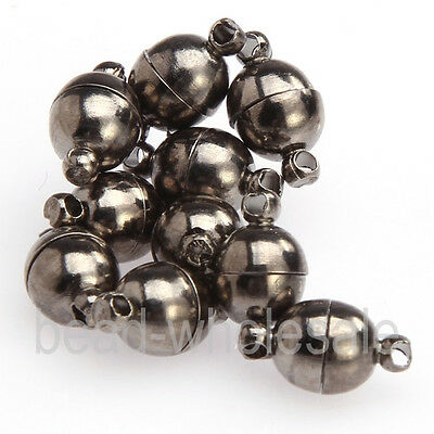 MAGNETIC CLASPS VERY STRONG SILVER or GOLD PLATED  10PCS