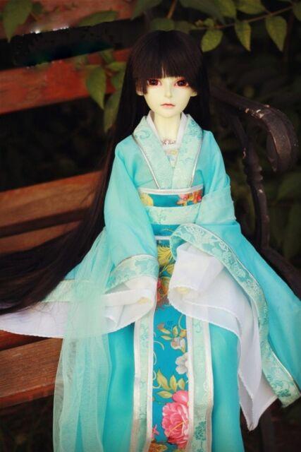 699# Blue Ancient costume/Dress/ Outfit For 1/4 MSD AOD DOD DZ BJD Dollfie
