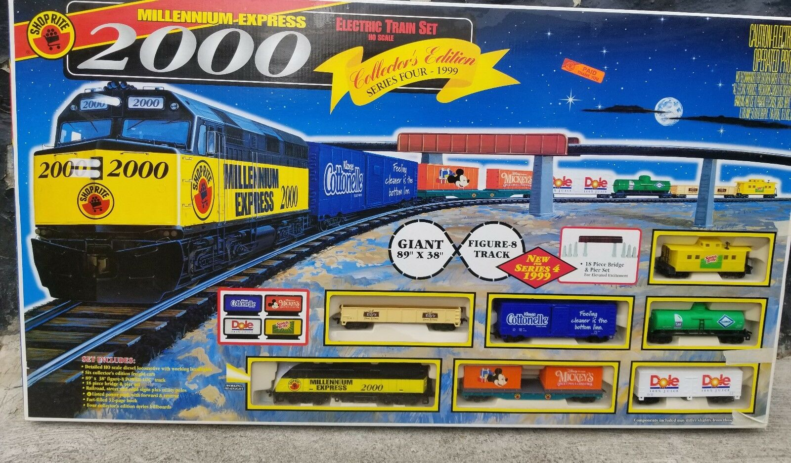 ELECTRIC TRAIN SET HO SCALE SHOP RITE MILLENNIUM EXPRESS 2000 COLLECTOR'S EDT