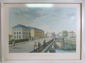 Th-Presuhn-Oldenburg-034-Der-aeussere-Damm-um-1845-034-Caecilienbruecke-Kunstdruck