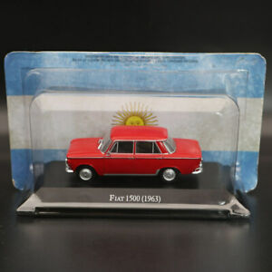 1:43 IXO Altaya Fiat 1500 1963 Red Diecast Models Limited Edition Collection