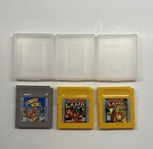 Gameboy Donkey Kong, Donkey Kong Land & Donkey Kong Land 2 w/ Cases AUTHENTIC!