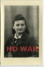 Wwii Original German Photo Girl From Bdm In Uniform