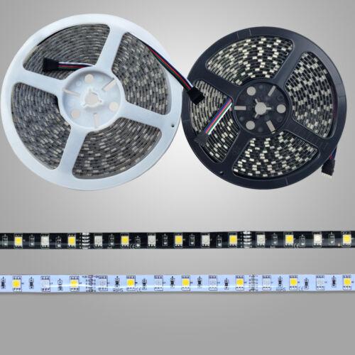 60 LEDs//M LED Strip New 5~50M Black PCB N//Waterproof SMD 5050 LED RGBW RGB+W
