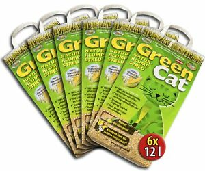 6x12 l GreenCat Mais Naturklumpstreu Öko-Plus Cat`s Katzenstreu best Streu Best