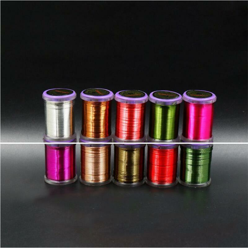 10colors BRASSIE ULTRA Wire Fly Tying Metal wire 0.2mm &0.3mm  Copper Wire  great selection & quick delivery