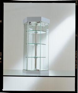 Dettagli su Vetrina piccola vetrinetta esposizione banco tavolo vetro  cristallo modellismo