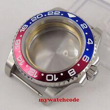 40mm Sapphire Glass Black Red Bezel Watch Case Bracelet Fit 2824 2836 Movement