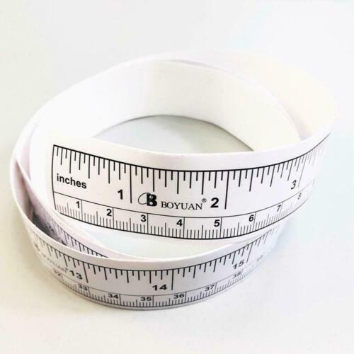 Self Adhesive Metric Measure Tape Vinyl Ruler For Sewing 90cm Machine Stick New
