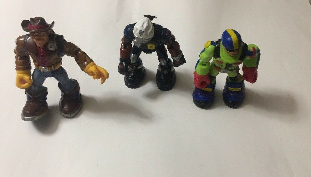 Vintage RESCUE HEROES ACTION FIGURES Lot of 3