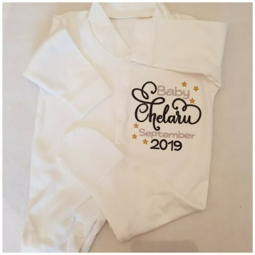 Personalised Baby grow Clothing Shower Birth Announcement Vest