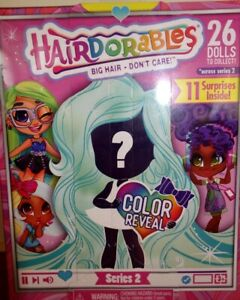 1-New-SEALED-2019-Hairdorables-Series-2-Color-Reveal-Collectible-Doll-VHTF