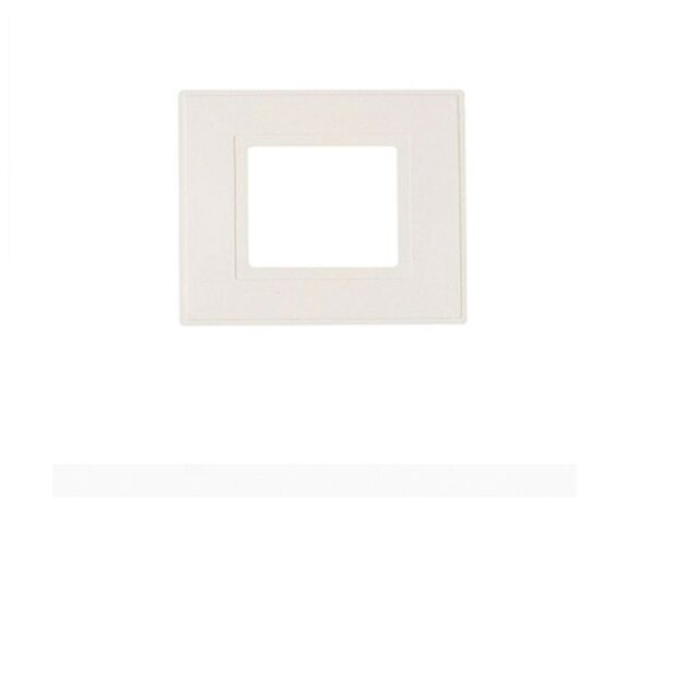 CLEAR FINGER PLATE BACK SURROUND MADE IN UK 2 X SINGLE LIGHT SWITCH WHITE