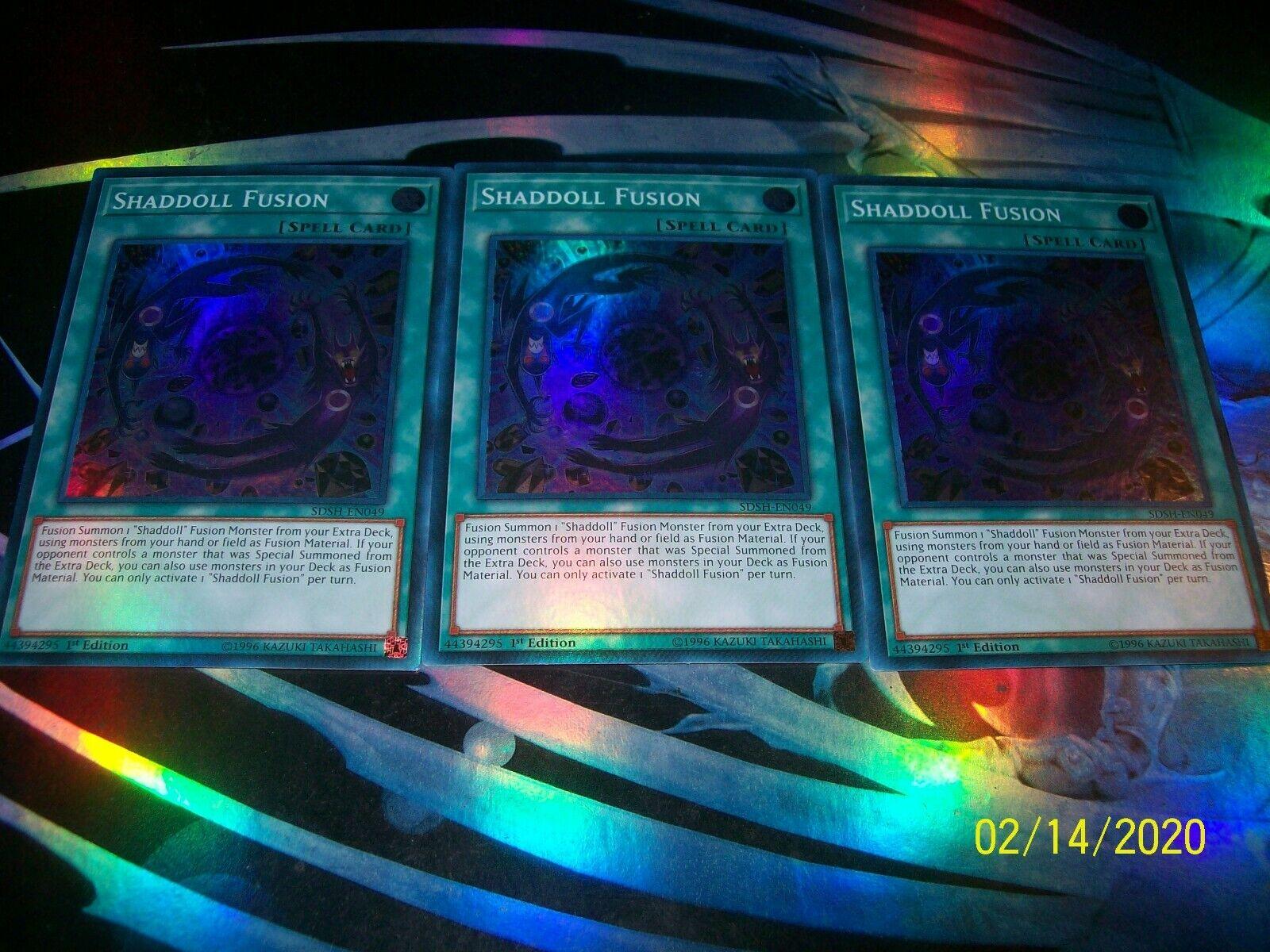 "near Mint Edition! Super RARE 1 YuGiOh!! /""Shaddoll Fusion/"" sdsh-EN049"