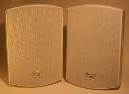 sold ea Klipsch CA-525T Indoor Outdoor 2 way White surface mt  w//bracket NICE