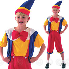 KIDS FAIRYTALE BUDGET PINOCCHIO PUPPET Boys Fancy Dress Costume Age 3-13