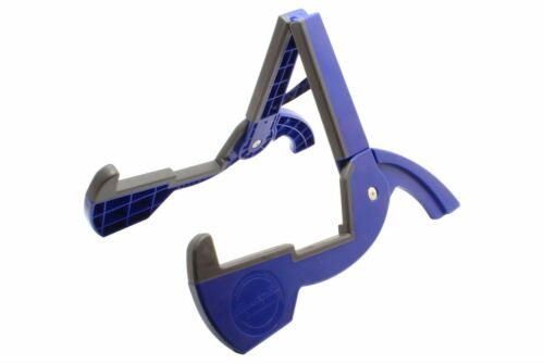 Blue Plastic Cooperstand Duro-Pro Compact Folding Guitar Bass Stand