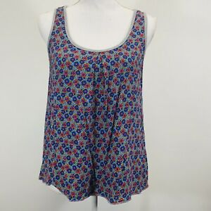 Mossimo-Women-039-s-Floral-Front-Gray-Back-Sleeveless-Tank-Top-Size-Medium