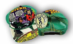 0e00779d0f1c Mens NWT Official DC Comics The Green Lantern Mesh Snap Back Closure Hat Cap