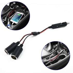PRO-Double-Power-Dual-Car-Cigarette-Lighter-Socket-Plug-Adapter-Charger-Splitter