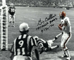Gary Collins signed Cleveland Browns Spotlight 8x10 Photo 1st MNF Game 9-21-70