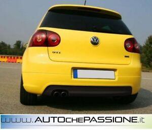 Sotto-paraurti-posteriore-GTI-Edition-30-TH-Volkswagen-Golf-5-nuovo-ABS-con-fori