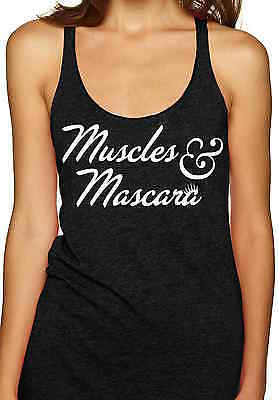 Muscles And Mascara Workout Gym Tank Top Cute Exercise Clothing Yoga