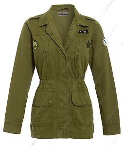 cheap for discount 1c3a0 39d42 Details zu NEU Damen Leinen Jacke Damen Khaki Orden Mantel Größe 8 10 12 14  16 Graben