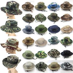 d4f83e1042c Bush Hat Camouflage Reversible Bucket Men Wide Brim Camo Sun Summer ...