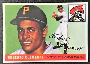 Details About 1955 Topps 164 Roberto Clemente Rookie Reprint Mint Pittsburgh Pirates