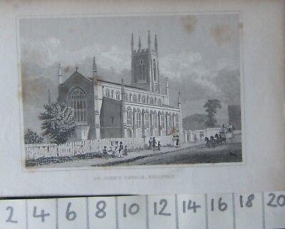 Art Prints C1830 Antique Print ~ St John's Church Holloway
