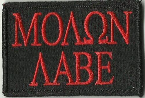 VELCRO® BRAND Hook Fastener Compatible Molon Labe Black Red