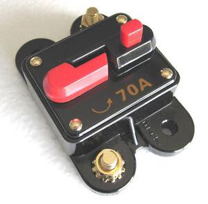 Image Is Loading 12 Volt Car Audio 70 AMP Circuit Breaker