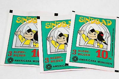 AMERICANA SINDBAD von 1978, 3 x Tüte packet bustina pochette SELTEN! RARE!