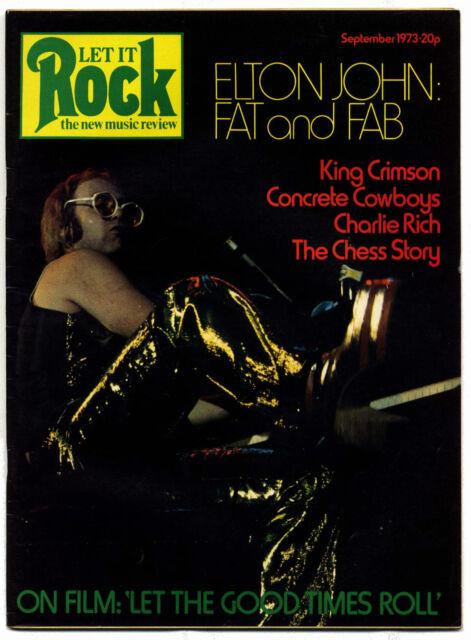 LET IT ROCK Magazine No 12 Chess King Crimson Billie Davis Elton John 1973