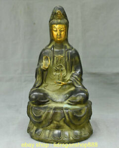 Statue-de-deesse-Kwan-Yin-Guan-Yin-Boddhisattva-en-bronze-dore-15-2-034