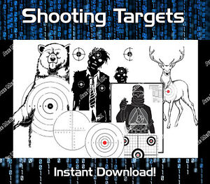 Details About 3000 Printable Shooting Targets Range Shooting Bow Bb Gun Airsoft Rifle