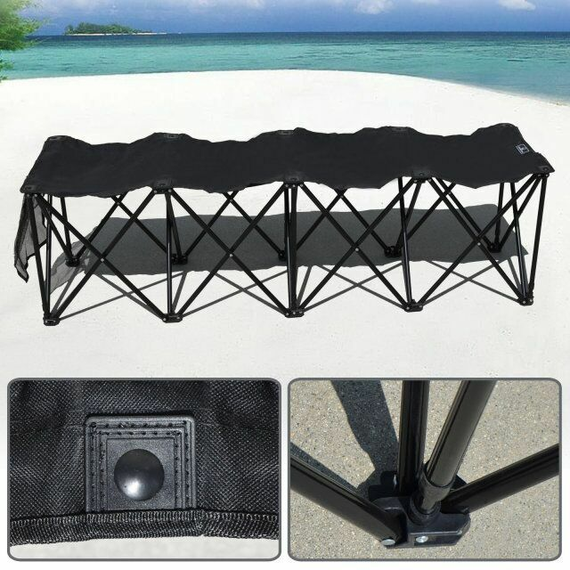 Folding Sideline Bench 4 8 Seater Outdoor Sports Waterproof w carrybag